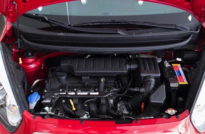 Kia Morning Deluxesử dụng khối động cơ xăng Kappa 1.25L