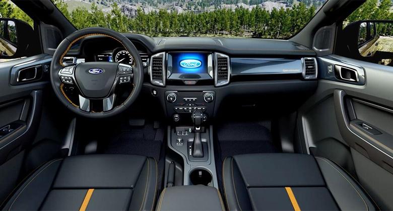 Khoang nội thất Ford Ranger Wildtrak