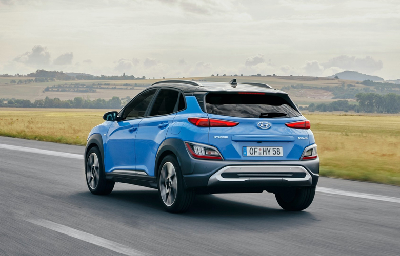 Đuôi và thân xe Hyundai Kona
