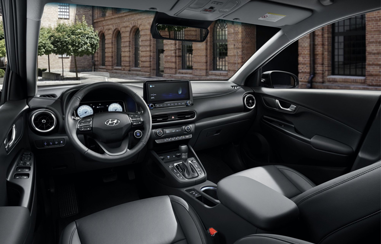Bảng taplo hiện đại và sang trọng của Hyundai Kona mới