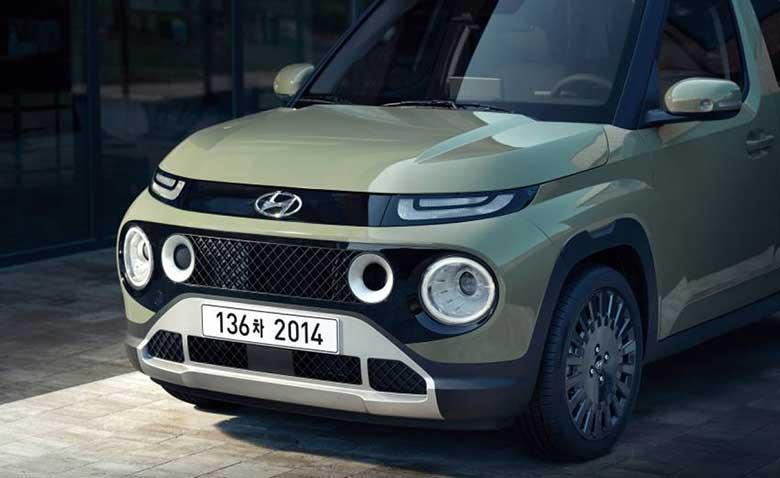 Đầu xe hiện đại của Hyundai Casper 2022