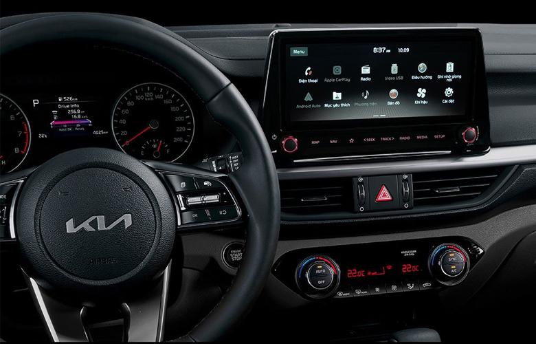 Trang bị tiện nghi nổi bật trên Kia K3 2022 là màn hình cảm ứng 10,25 inch