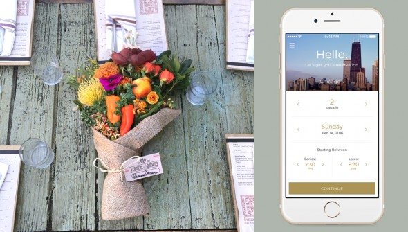 Free bouquet with Reserve app