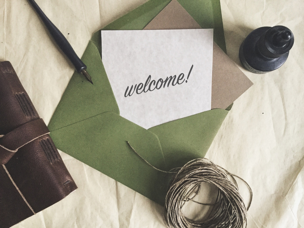 welcome messages ideas