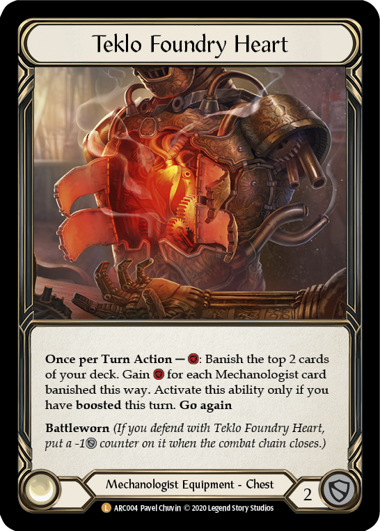 Teklo Foundry Heart (Rainbow Foil)