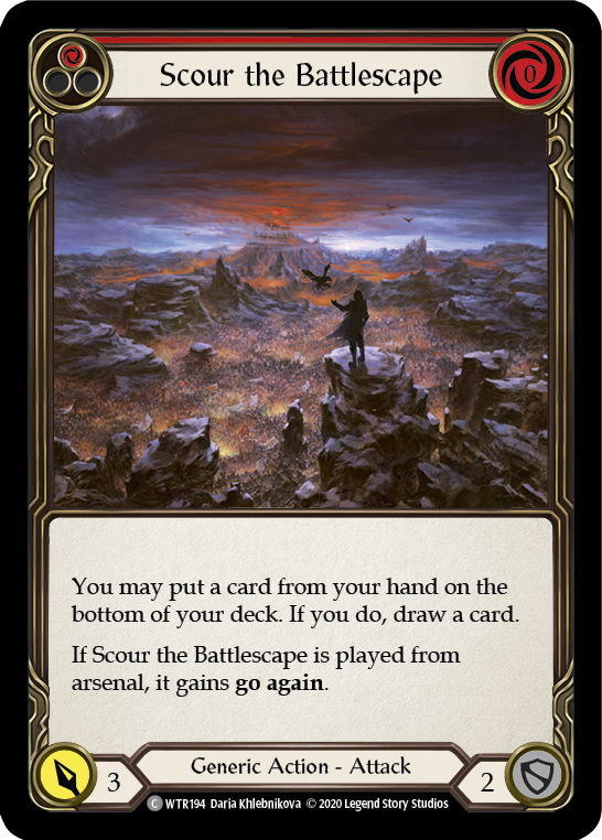 Scour the Battlescape (Red)