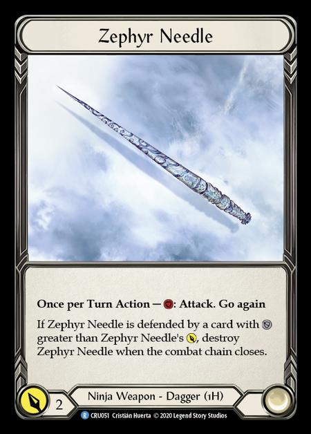 Zephyr Needle (Left - Cold Foil)