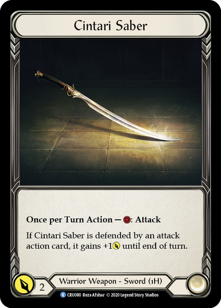 Cintari Saber (Right - Cold Foil)