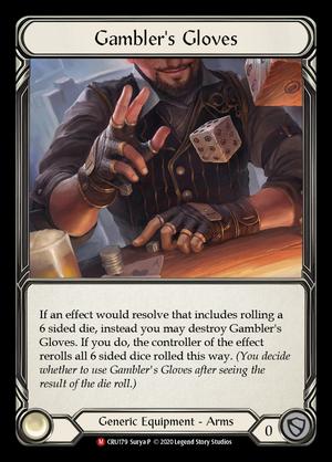 Gambler's Gloves Errata