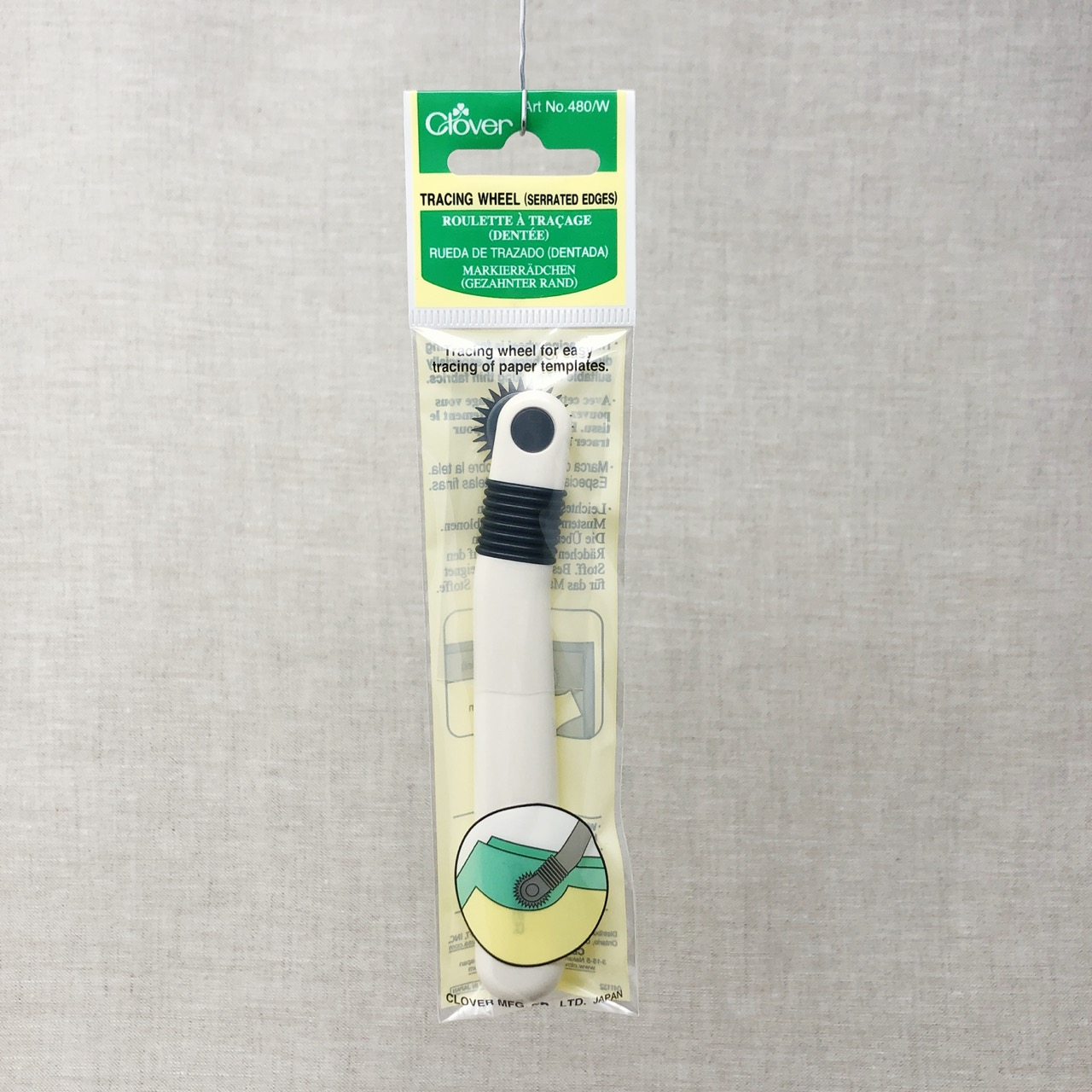 Clover Serrated Edges Tracing Wheel Haberdashery Fabric Marker Sewing Supply