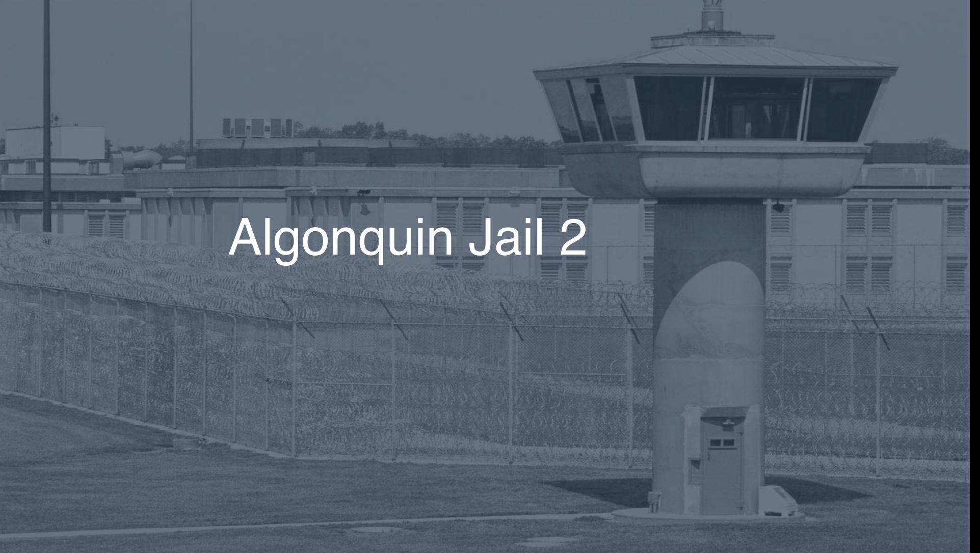 Algonquin Jail correctional facility picture