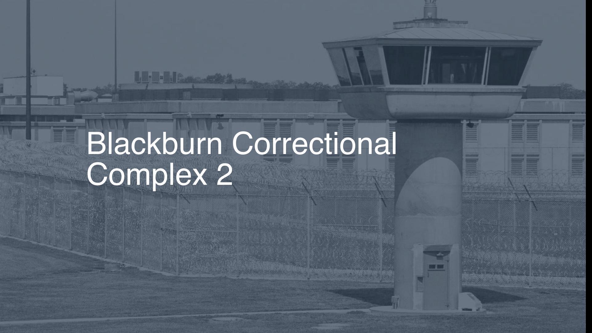 Blackburn correctional complex 2019 inmate search visitation