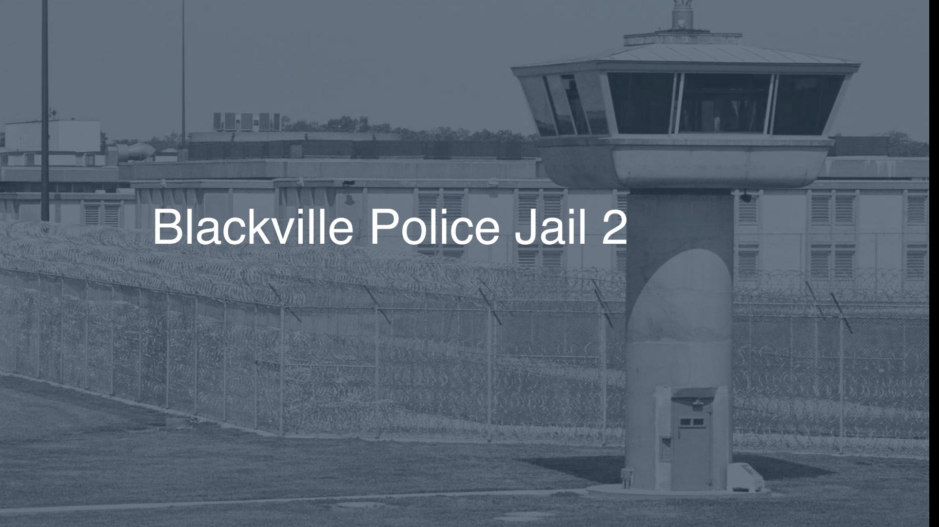 Blackville Police Jail correctional facility picture