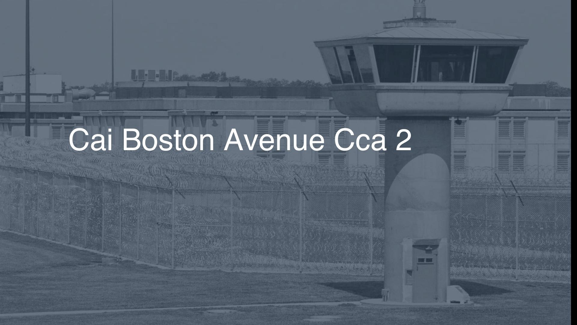CAI - Boston Avenue - CCA correctional facility picture