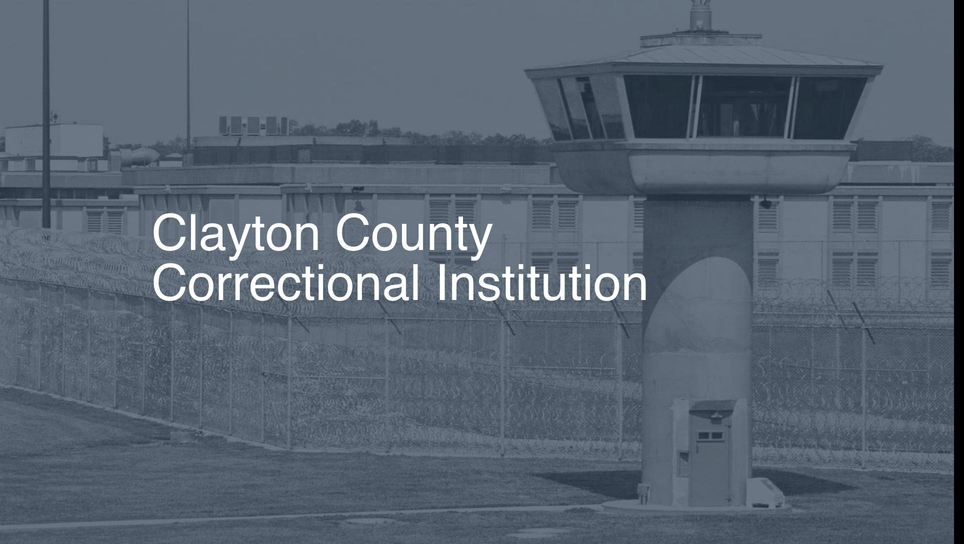 Clayton County Correctional Institution   Pigeonly - Inmate