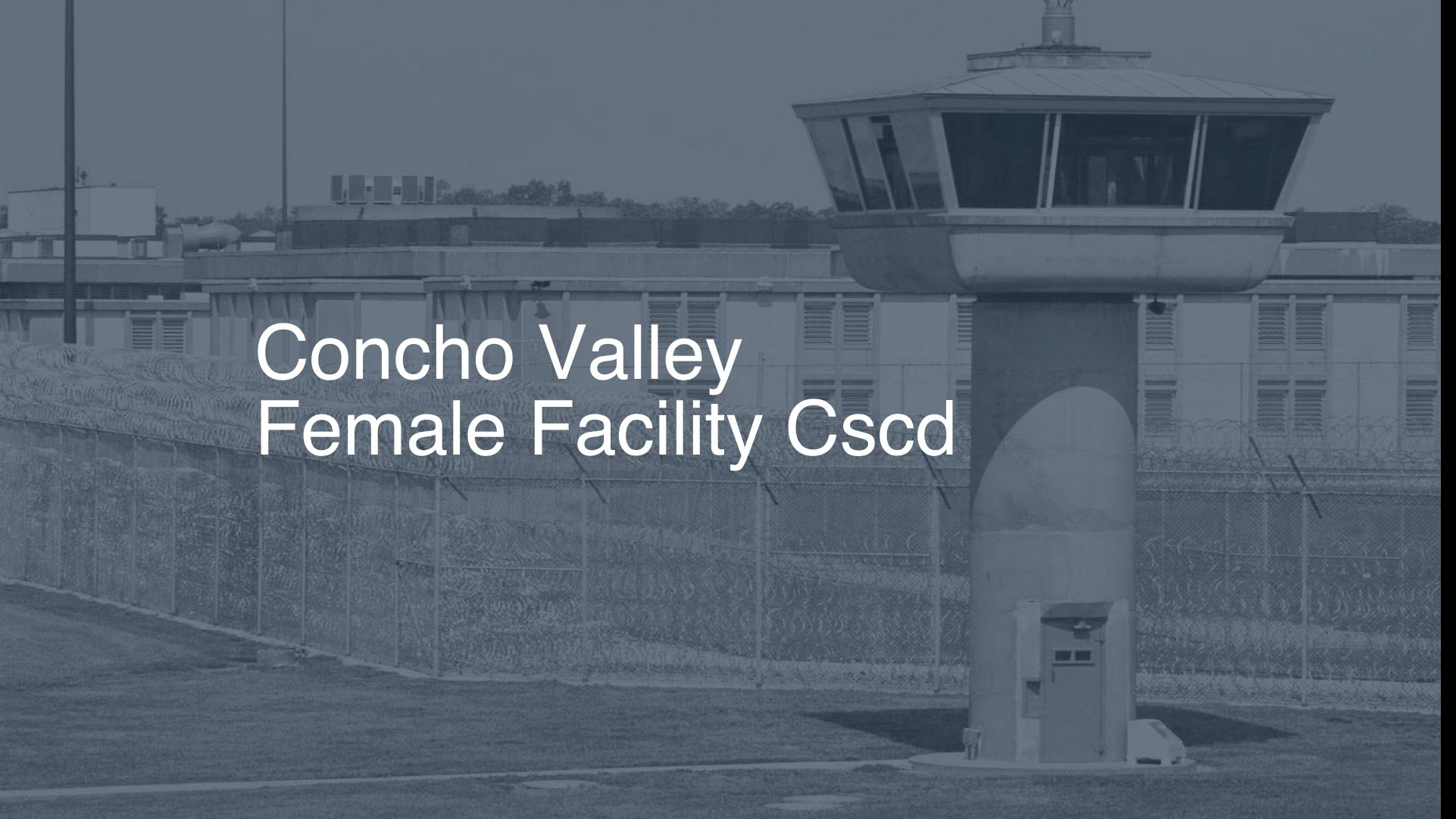 Concho Valley Female Facility CSCD Inmate Search Lookup