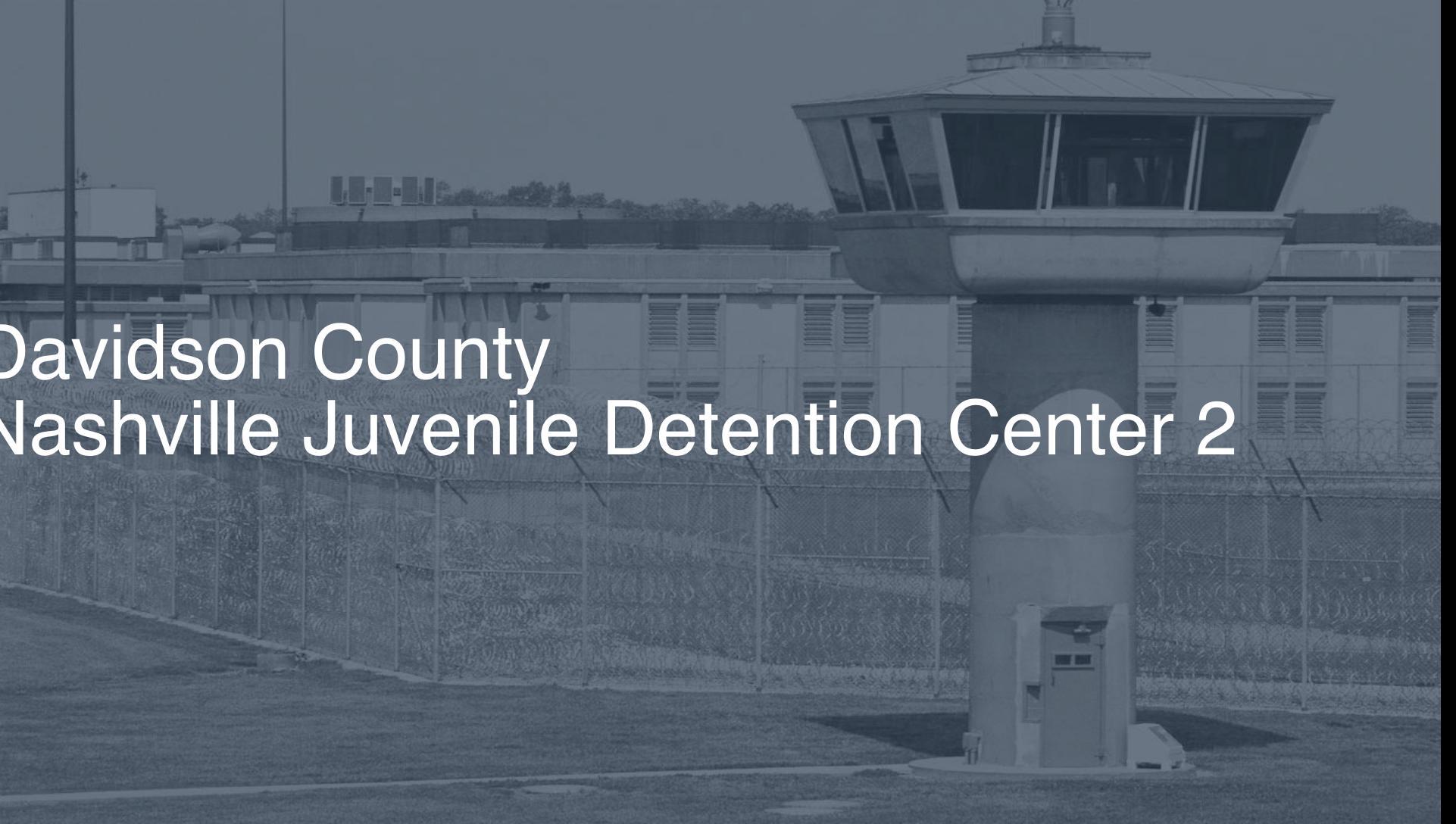 Davidson County (Nashville) Juvenile Detention Center (2019