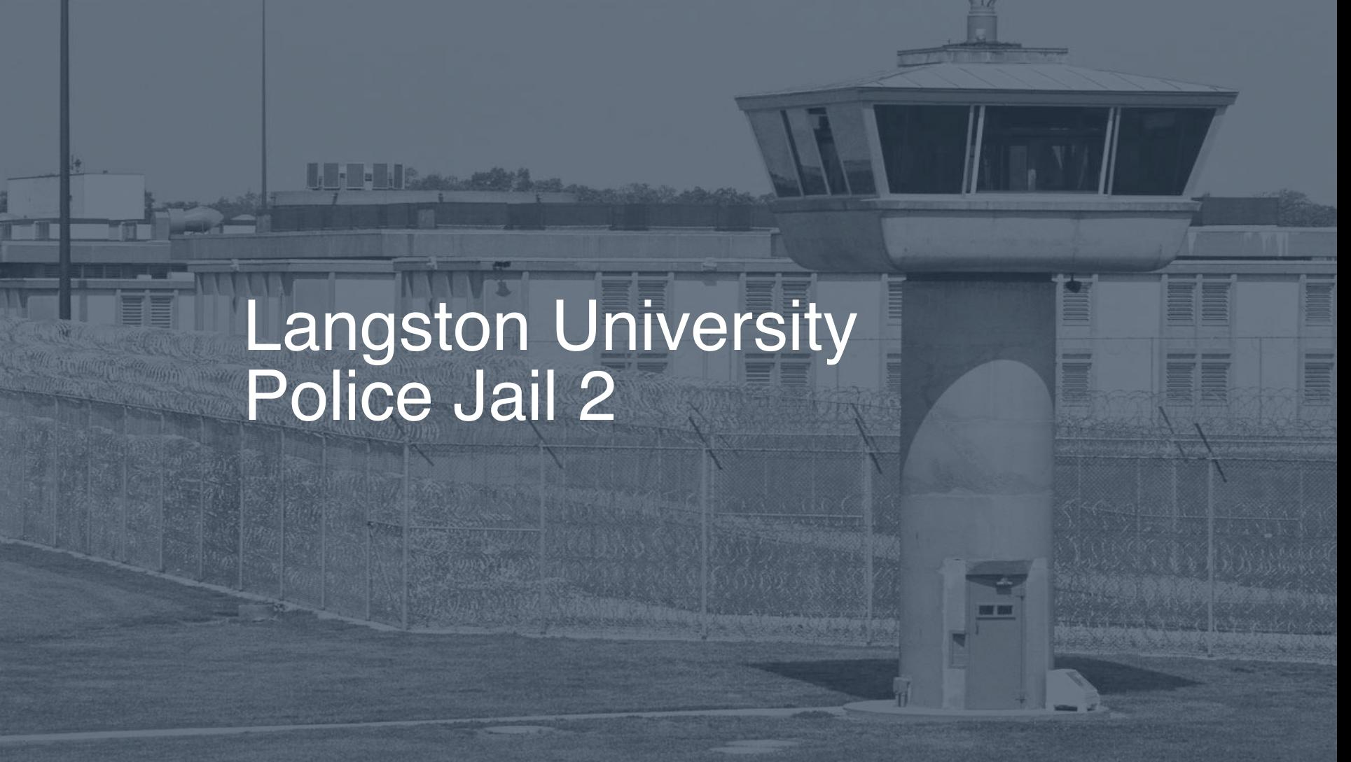 Langston University Police Jail correctional facility picture