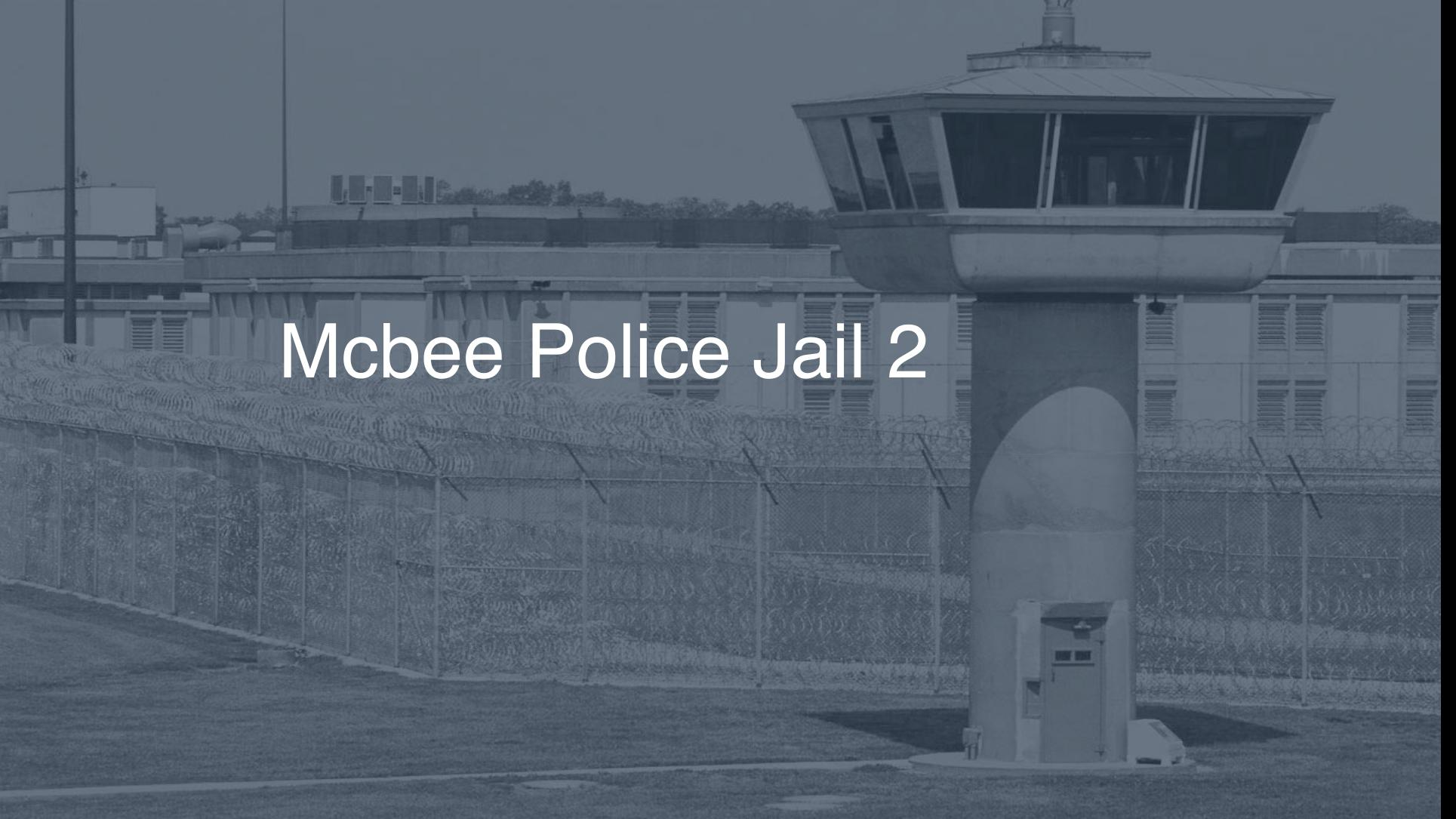 McBee Police Jail correctional facility picture