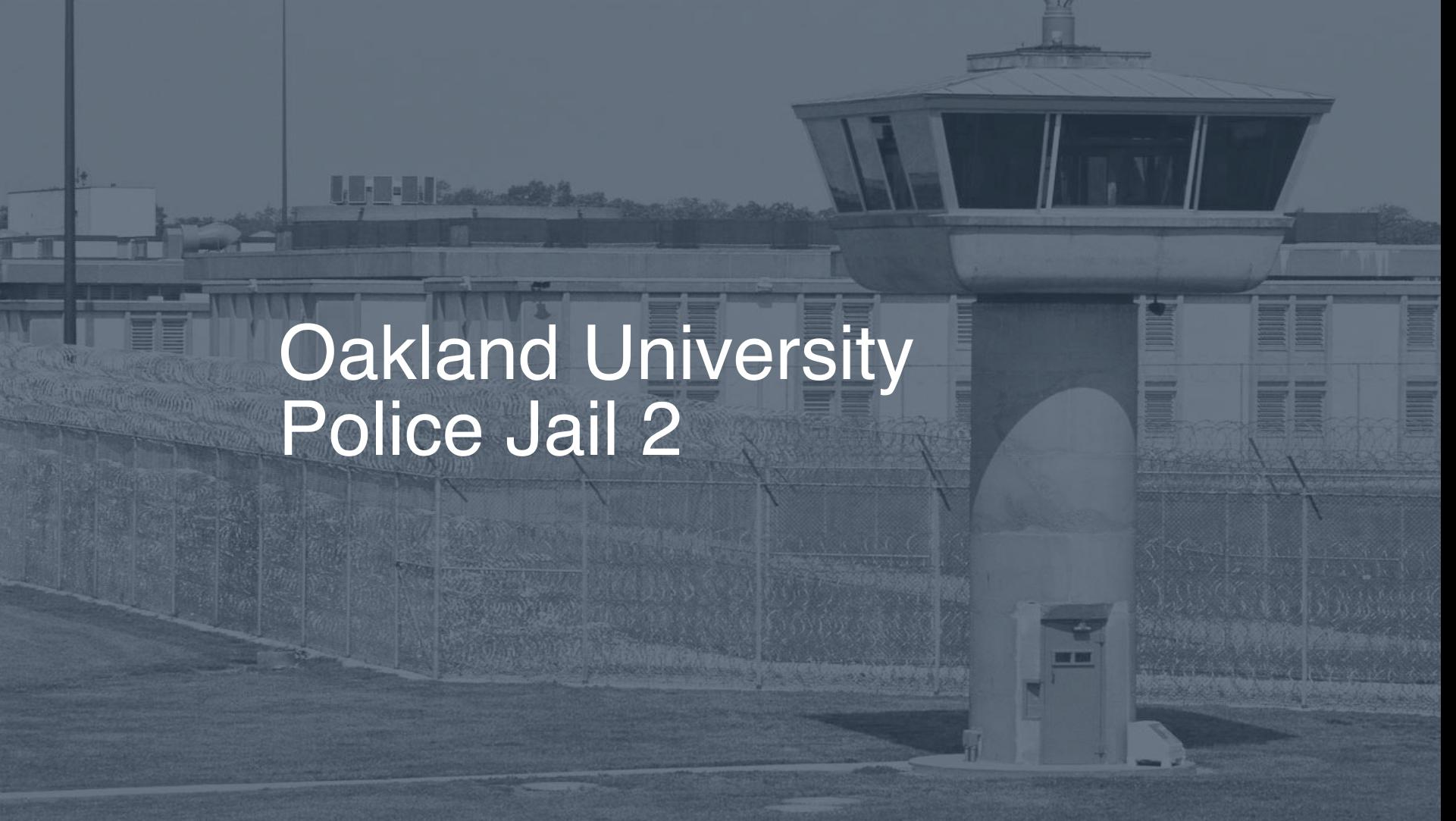 Oakland University Police Jail correctional facility picture
