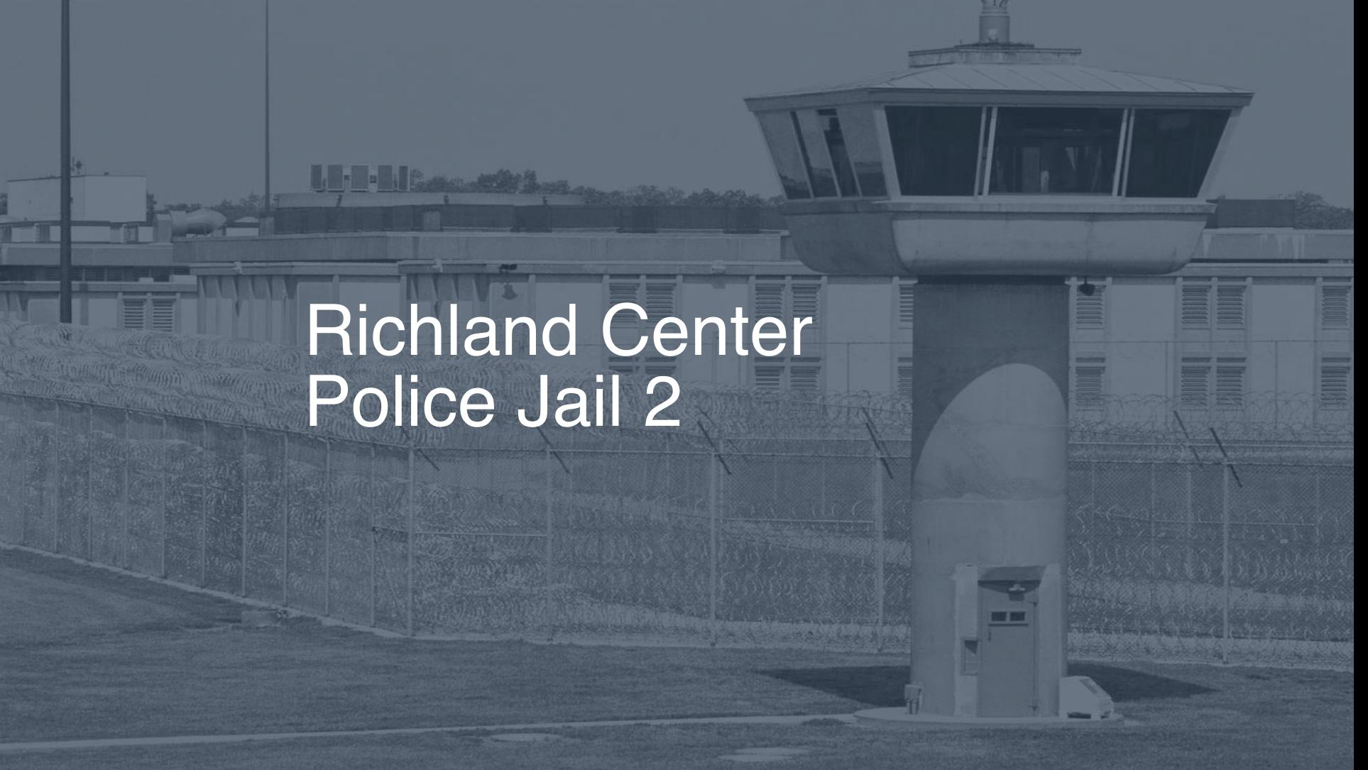 Richland Center Police Jail (2019) | Inmate Search