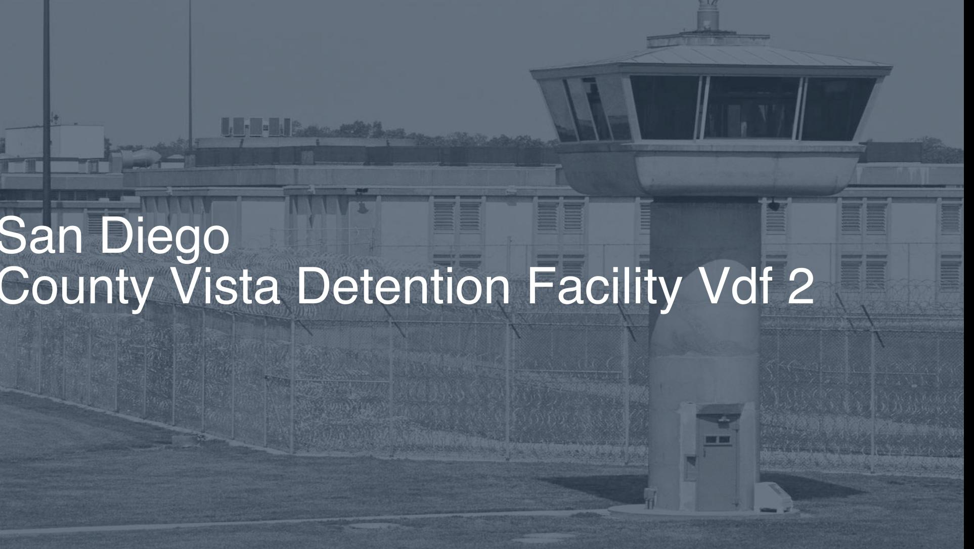 San Diego County - Vista Detention Facility (VDF) Inmate Search