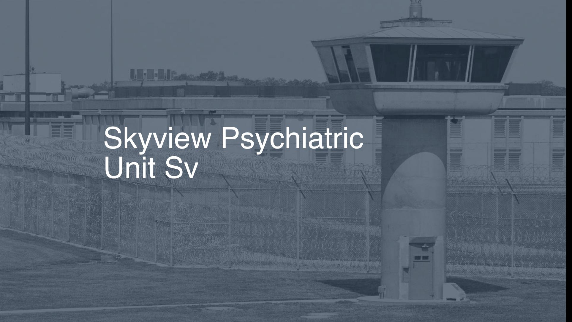 Skyview Psychiatric Unit (SV) correctional facility picture
