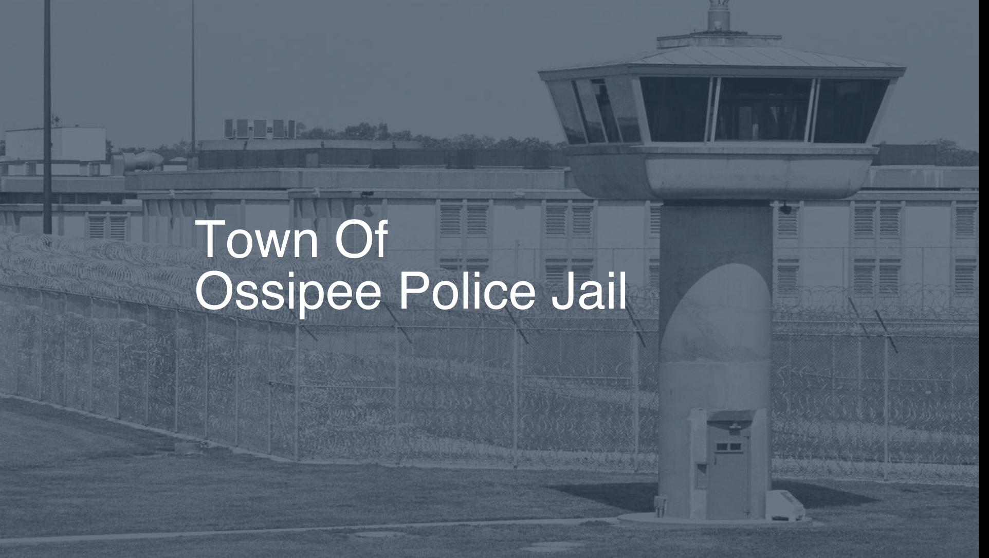 Town of Ossipee Police Jail correctional facility picture