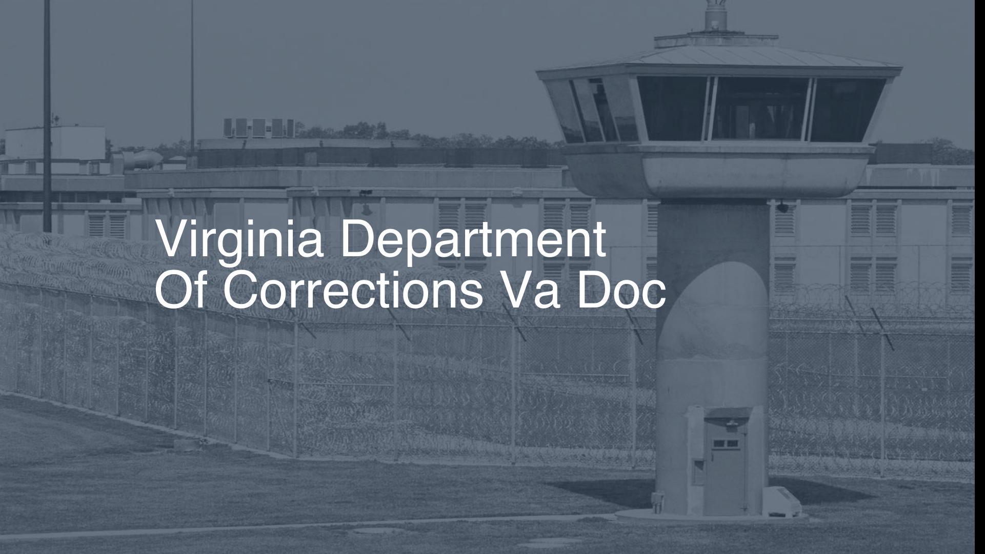 Virginia Department of Corrections (VA