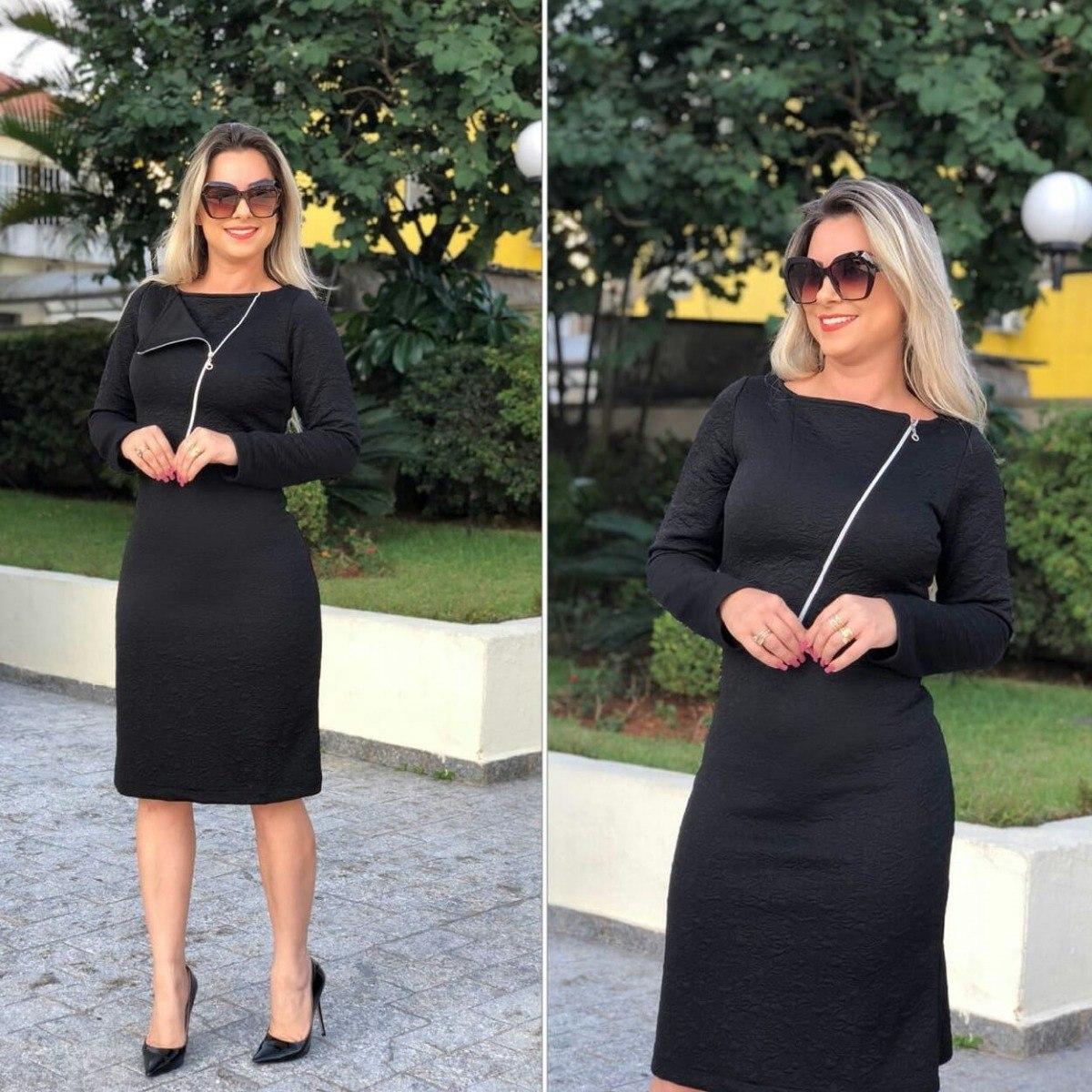 Vestido feminino midi gode moda evangelica promoçao - R