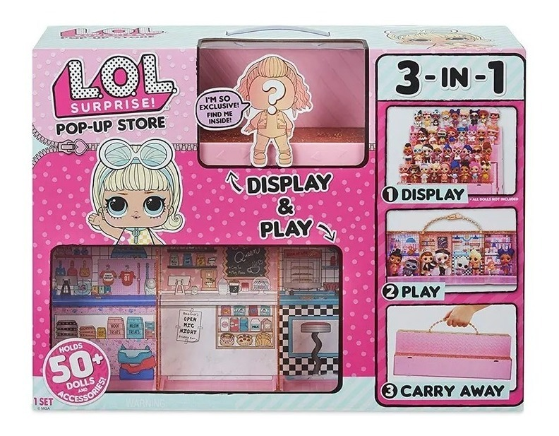 Doll Mga Chop Loja De Pop-up 3 Em 1 Estojo de transporte Display l.o.l Lol Surpresa