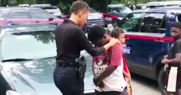 Officer-prays-for-boy