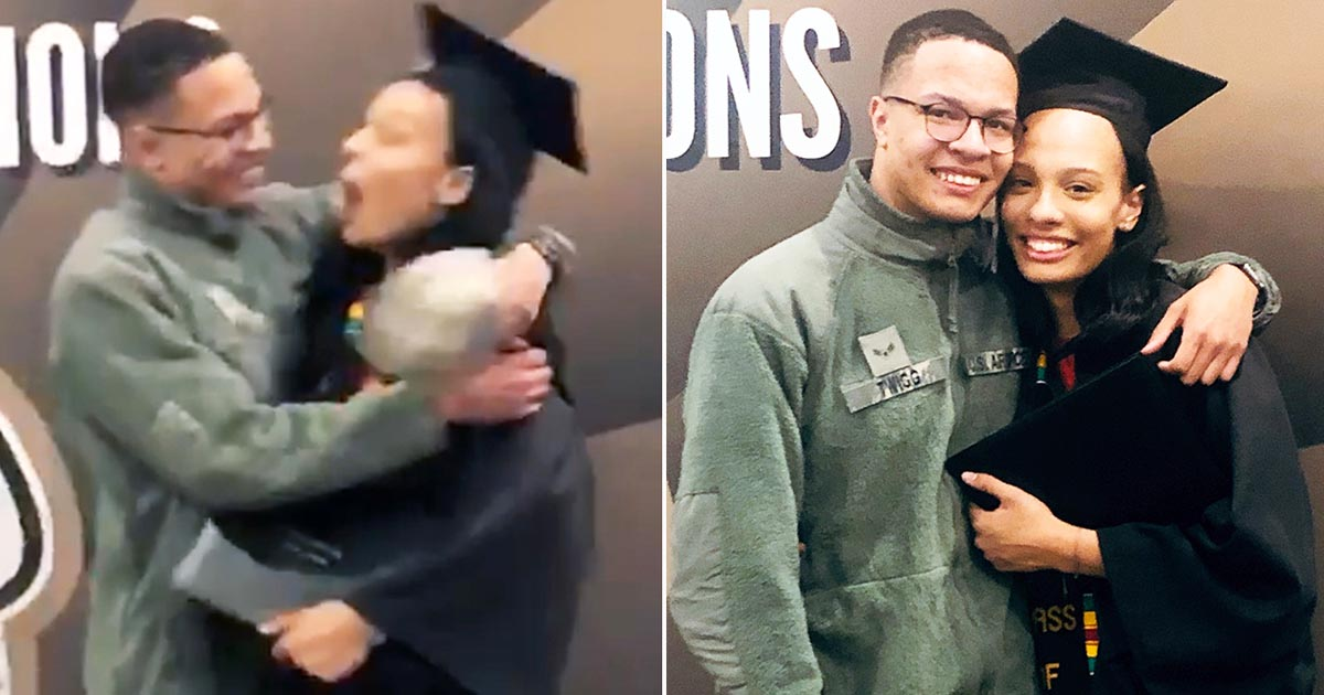 Airman surprises sister