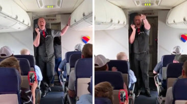 Southwest Flight Attendant Sings Oklahoma
