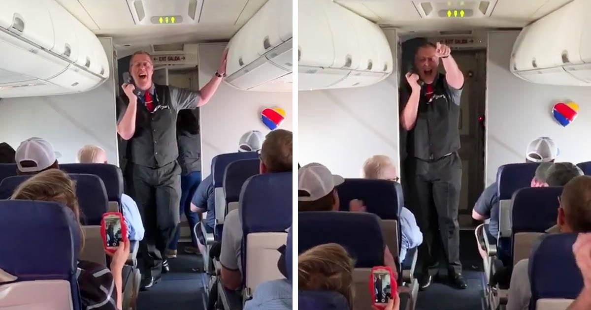 Southwest Flight Attendant Sings Oklahoma
