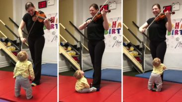 Toddler Hears Violin For The First Time