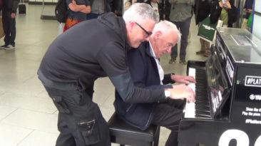 Brendan Kavanagh's piano performance with senior