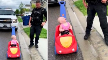 police-pulls-over-toddler