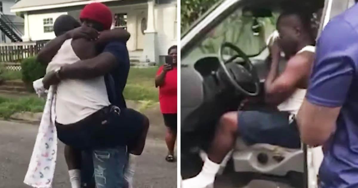 son-surprises-dad-new-truck
