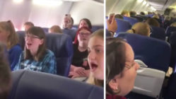 choir-sings-hallelujah-on-plane