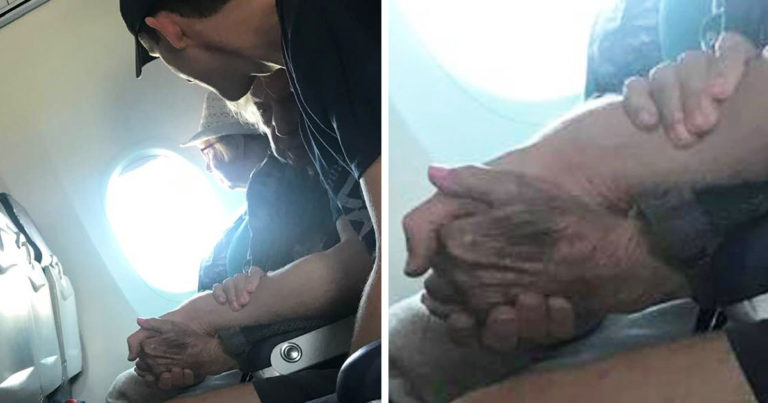 man-comforts-nervous-grandma