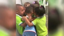 classmates-greets-boy-after-Hurricane-Dorian