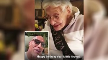 Dwayne-Johnson-Surprises-Grandma-birthday