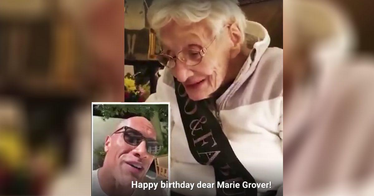 Dwayne-Johnson-Surprises-Grandma-birthday