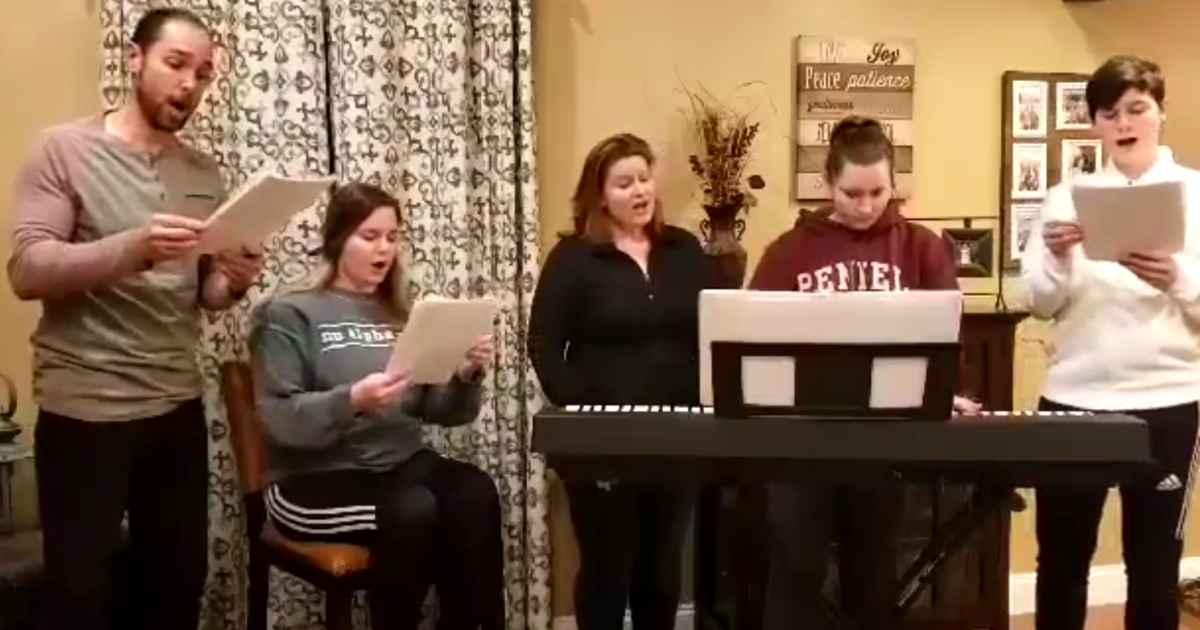 family-sing-amazing-love