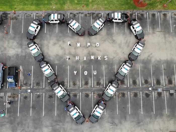 police-heart-shape