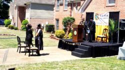 front-yard-graduation-ceremony