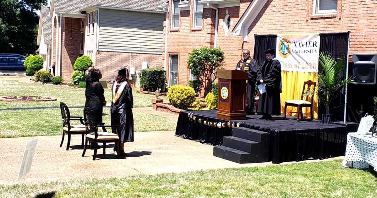 front-yard-graduation-ceremony