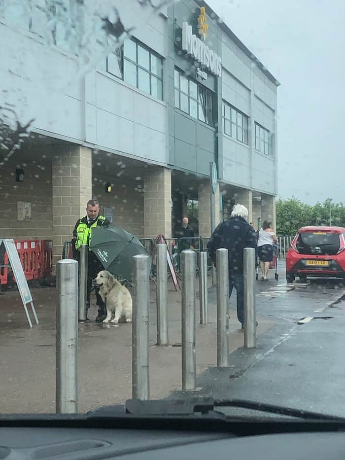 security-guard-protects-dog-from-rain-2
