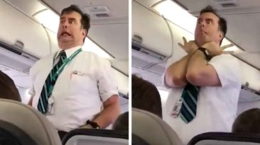 westjet-flight-attendant-announcement